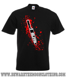 Halloween Michael Myers Knife Retro Horror Movie mens black T Shirt