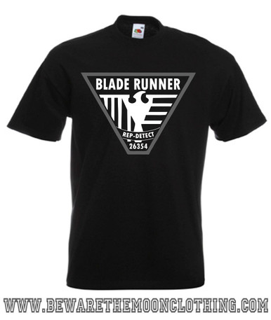 Blade Runner Retro Movie T Shirt Mens Black