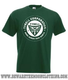 Tyrell Corporation Blade Runner Retro Movie T Shirt Mens Bottle Green