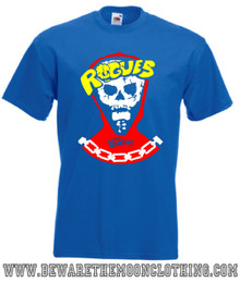 The Warriors Rogues Gang Retro Movie T Shirt mens royal blue