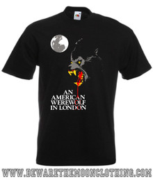 An American Werewolf In London Retro Horror Movie T Shirt mens black