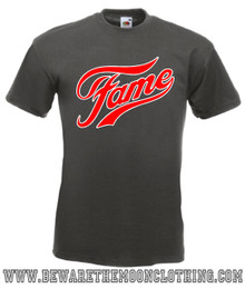 Fame Retro 80s Movie T Shirt mens graphite