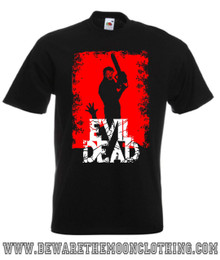 Evil Dead Ash Retro Horror Movie T Shirt mens black
