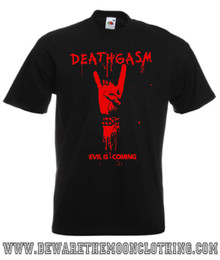 Deathgasm Retro Style Comedy Horror Movie T Shirt mens black