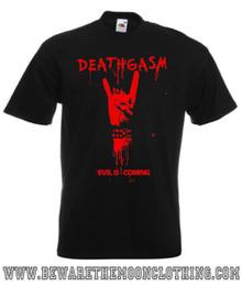 Deathgasm Retro Style Comedy Horror Movie T Shirt mens black