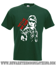 They Live Roddy Piper Retro John Carpenter Movie T Shirt mens bottle green