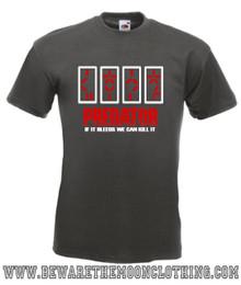 Predator retro Movie T Shirt mens graphite