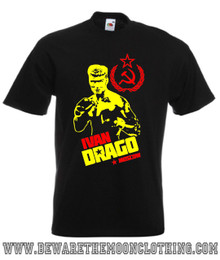 Ivan Drago Dolph Lundgren Rocky IV Retro Movie T Shirt mens black