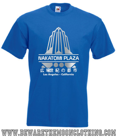 Nakatomi Plaza Die Hard Movie T Shirt mens royal blue