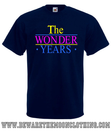The Wonder Years retro TV Show T Shirt mens navy