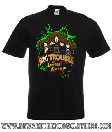 Three Storms Big Trouble In Little China Retro Movie T Shirt mens black