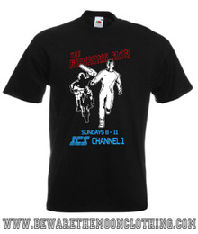 The Running Man Retro Movie T Shirt mens black