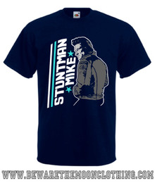 Stuntman Mike Death Proof Movie T Shirt mens navy
