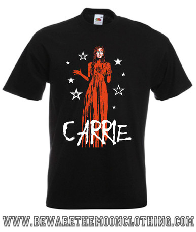 Carrie Horror Movie T Shirt mens black