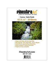 8.5x11 Inkjet Canvas Satin Finish  20 sheets