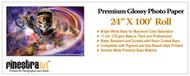 24x100 ft Roll Premium Glossy Inkjet Photo Paper