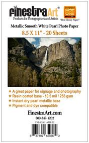 8.5x11 Metallic Pearl Photo Paper
