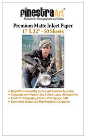 "17 x 22"" 50 Sheets Premium Matte Inkjet Photo Paper 230gsm"