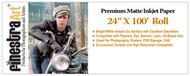 "24"" X 100' Roll Premium Matte Inkjet Photo Paper 230gsm"