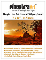 8x10 Baryta Natural - 25 Sheets