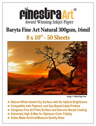 8x10 Baryta Natural - 50 Sheets