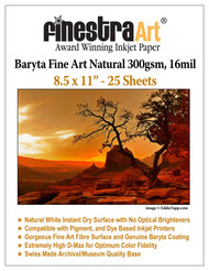 8.5x11 Baryta Natural - 25 Sheets
