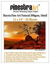 11x14 Baryta Natural - 25 Sheets