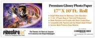 17x10 Premium Glossy Inkjet Photo Paper - Roll