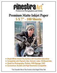 "5 x 7"" 100 Sheets Premium Matte Inkjet Photo Paper 230gsm"