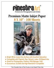 "8 x 10"" 100 Sheets Premium Matte Inkjet Photo Paper 230gsm"