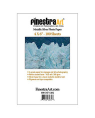 4x6 Metallic Silver Photo Paper 100 sheets