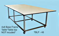 Tek:Shop:Table  Base Frame 4'x8'  All parts and tools included ( table top is NOT Included)