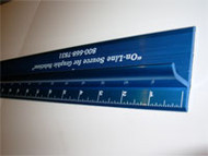 NEW TEK  Blue Safety Ruler 96""