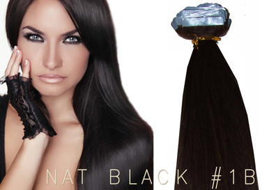 "20"" TAPE EUROPEAN REMY HUMAN HAIR EXTENSION | 62GM PER PACK X 20 PCS NAT BLACK #1B"