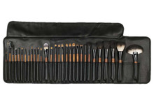 VAU BEAUTY PROFESSIONAL COMPLETE BRUSH SET ROLL - 30 PCS