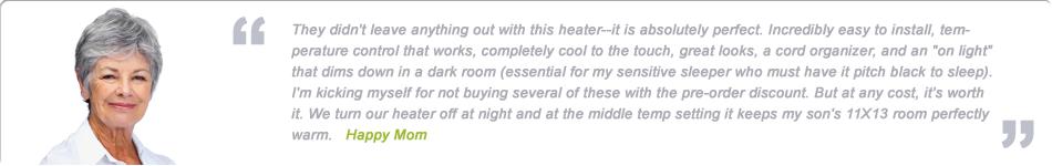 wall mounted panel heaters testimonial