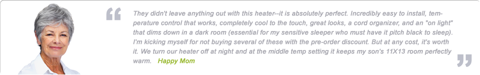 wall mounted panel heaters testimonial