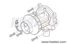 Eberspacher D5LC 24v Combustion Air Motor
