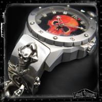 Alessandro Baldieri Watch on Black Diamond Skull Cross Bracelet in Sterling Silver | SEAMONSTER