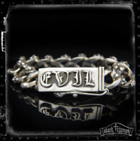 EVIL Skull & Cross Bracelet in Sterling Silver| NECESSARY EVIL