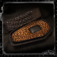 Black on Leopard Leather Coffin Watch Box | GUARDIAN - BLACK LEOPARD