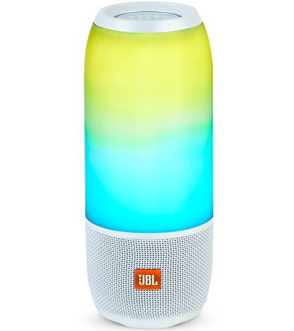 JBL Pulse 3 Portable Waterproof Bluetooth Speaker (White)