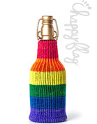 Freaker USA Happy Flag Drink Insulator with Glitter Yarn