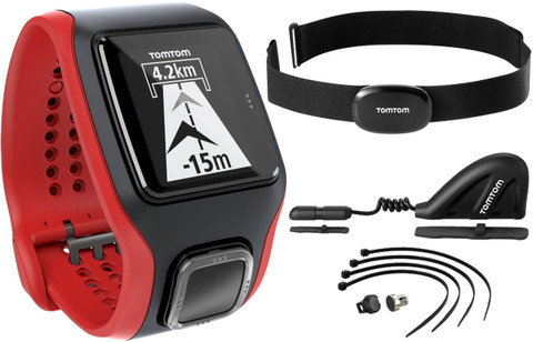 TomTom Multi-Sport Cardio with Cadence Sensor and Altimeter (Black/Red)