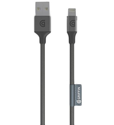 Griffin Premium Braided Lightning Cable (1.5 Metre Grey)