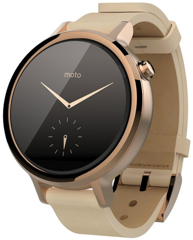 Moto 360 (2nd Gen) Small Rose Gold with Blush Leather