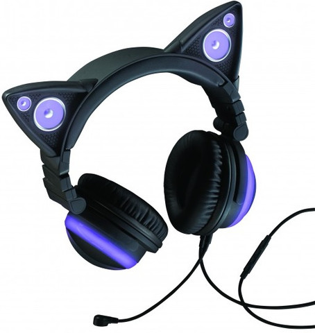 Brookstone Cat Ear Headphones (Purple)