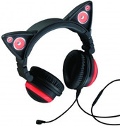 Brookstone Cat Ear Headphones (Red)