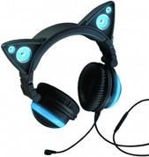 Brookstone Cat Ear Headphones (Blue)
