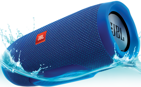 JBL Charge 3 Waterproof Portable Bluetooth Speaker (Blue)